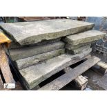 Quantity of Yorkshire stone Slabs, to pallet (LOCATION: Sussex Street, Sheffield)