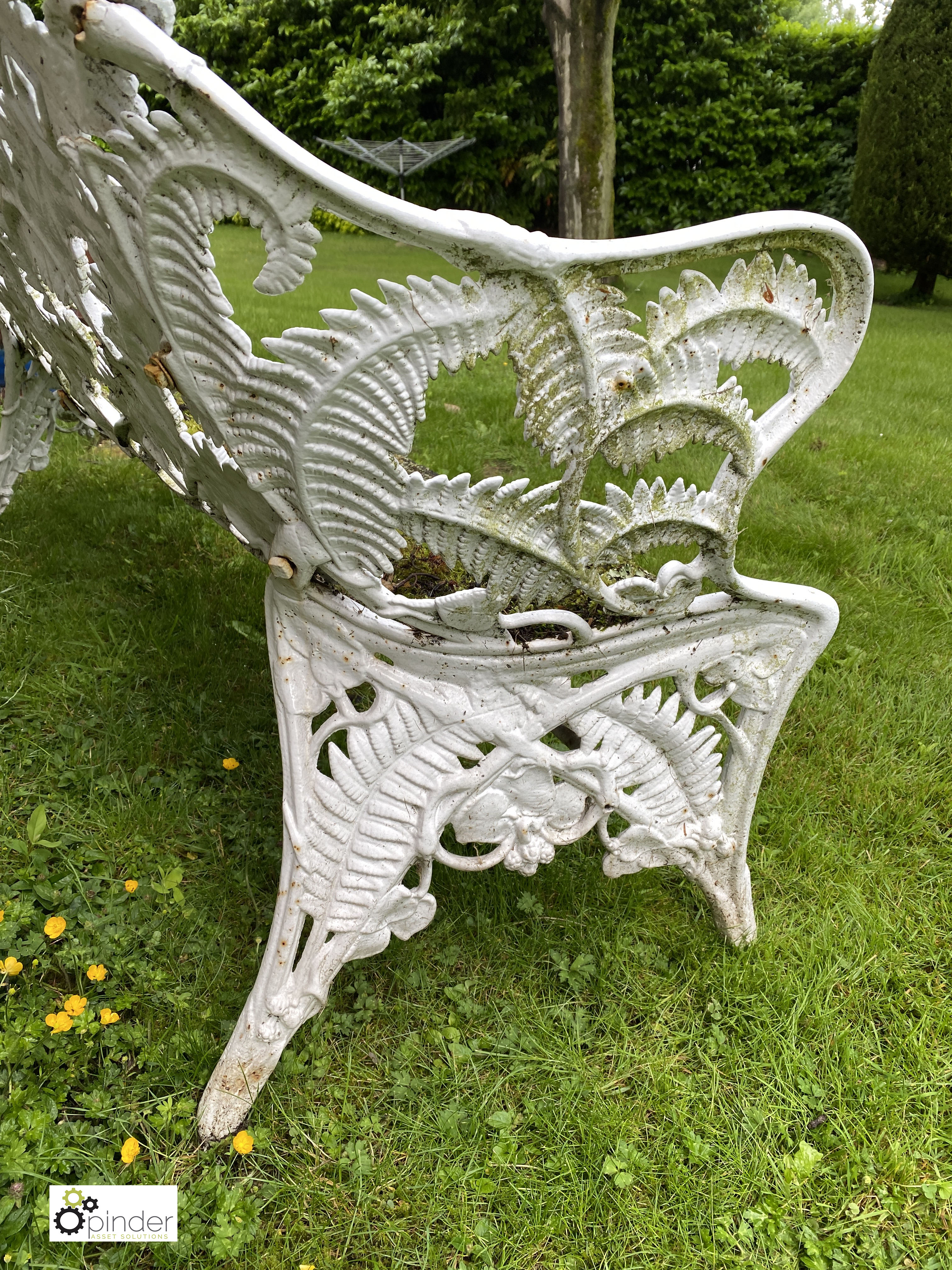 Decorative cast iron Garden Bench, with timber seat, 1890mm wide (LOCATION: Todwick, Sheffield) - Image 13 of 13