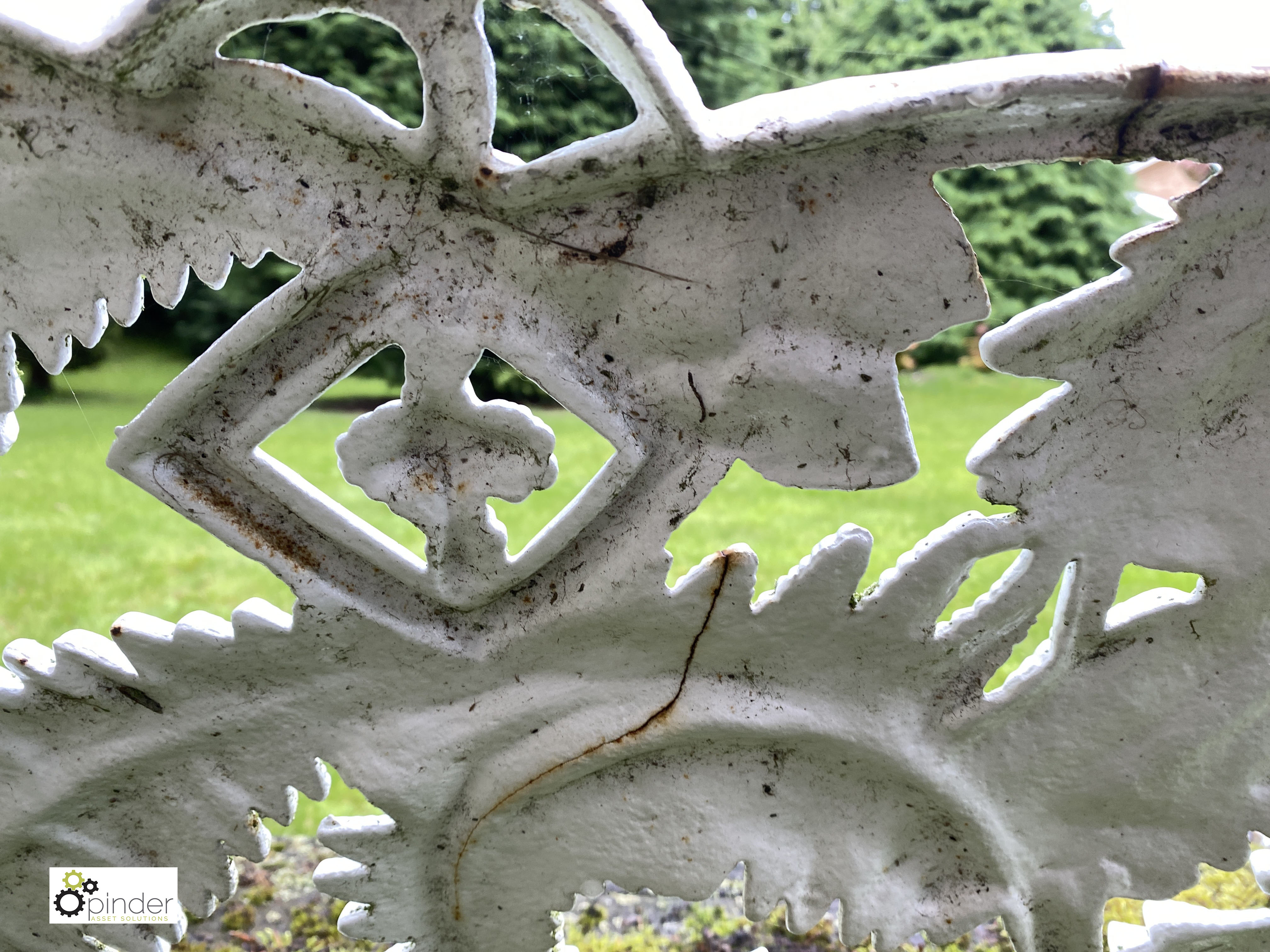 Decorative cast iron Garden Bench, with timber seat, 1890mm wide (LOCATION: Todwick, Sheffield) - Image 9 of 13