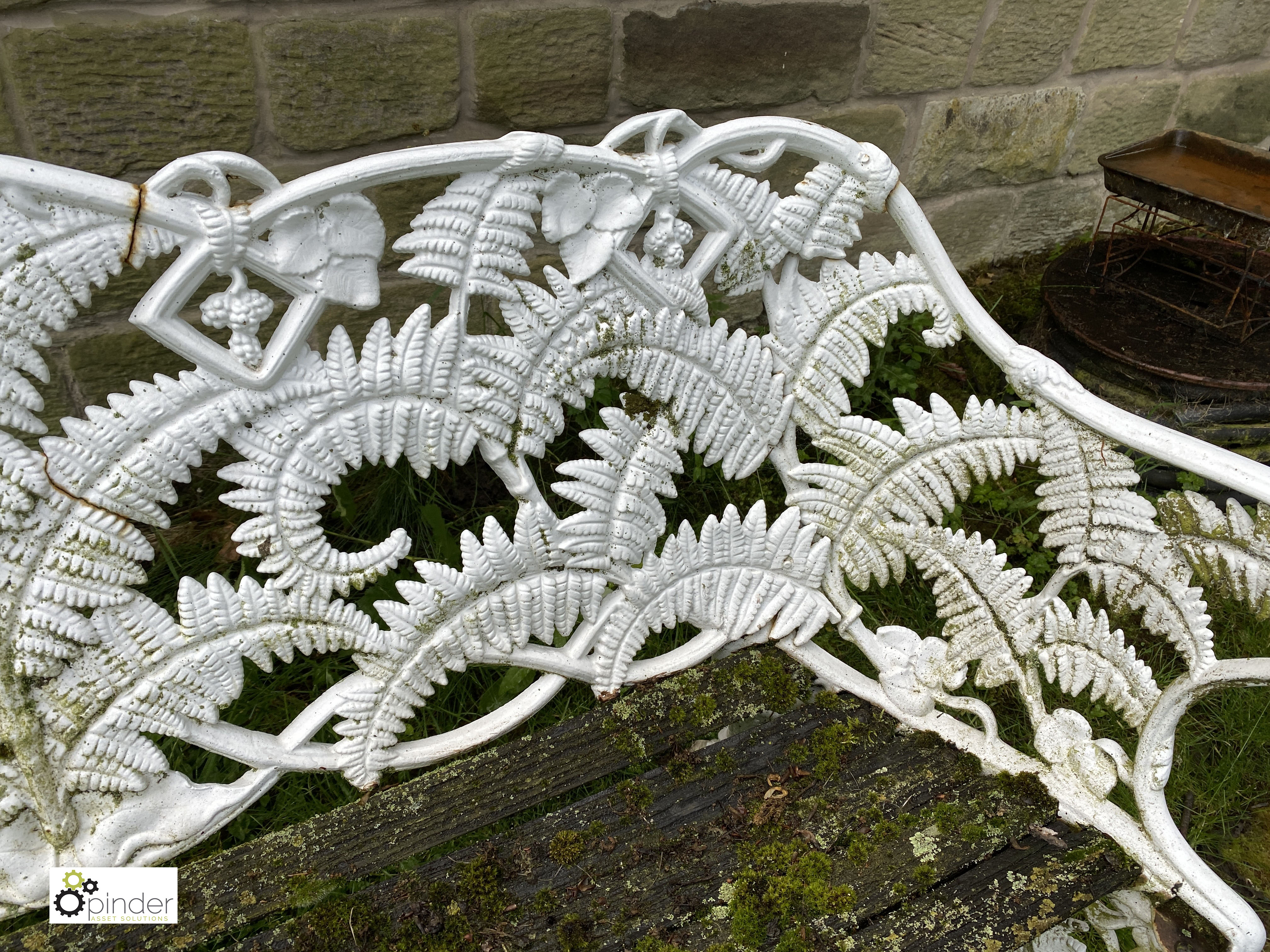 Decorative cast iron Garden Bench, with timber seat, 1890mm wide (LOCATION: Todwick, Sheffield) - Image 7 of 13