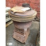 Romesse cast iron Stove, 620mm tall x 440mm diameter (LOCATION: Sussex Street, Sheffield)