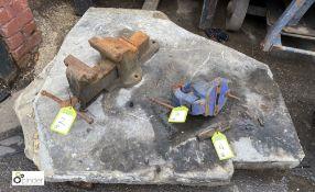 Misshaped stone Slab, approx. 1050mm x 1300mm x 120mm thick (LOCATION: Sussex Street, Sheffield)