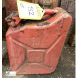 Steel Jerry Can, 10litres (LOCATION: Sussex Street, Sheffield)