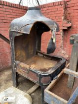 Cast iron Blacksmiths Forge, 900mm x 900mm x 1750mm high (LOCATION: Sussex Street, Sheffield)