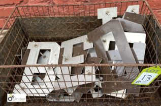 Quantity aluminium Sign Letters (LOCATION: Sussex Street, Sheffield)
