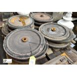 14 various steel Wheels, with solid rubber tyre, approx. 450mm diameter excluding tyre (LOCATION:
