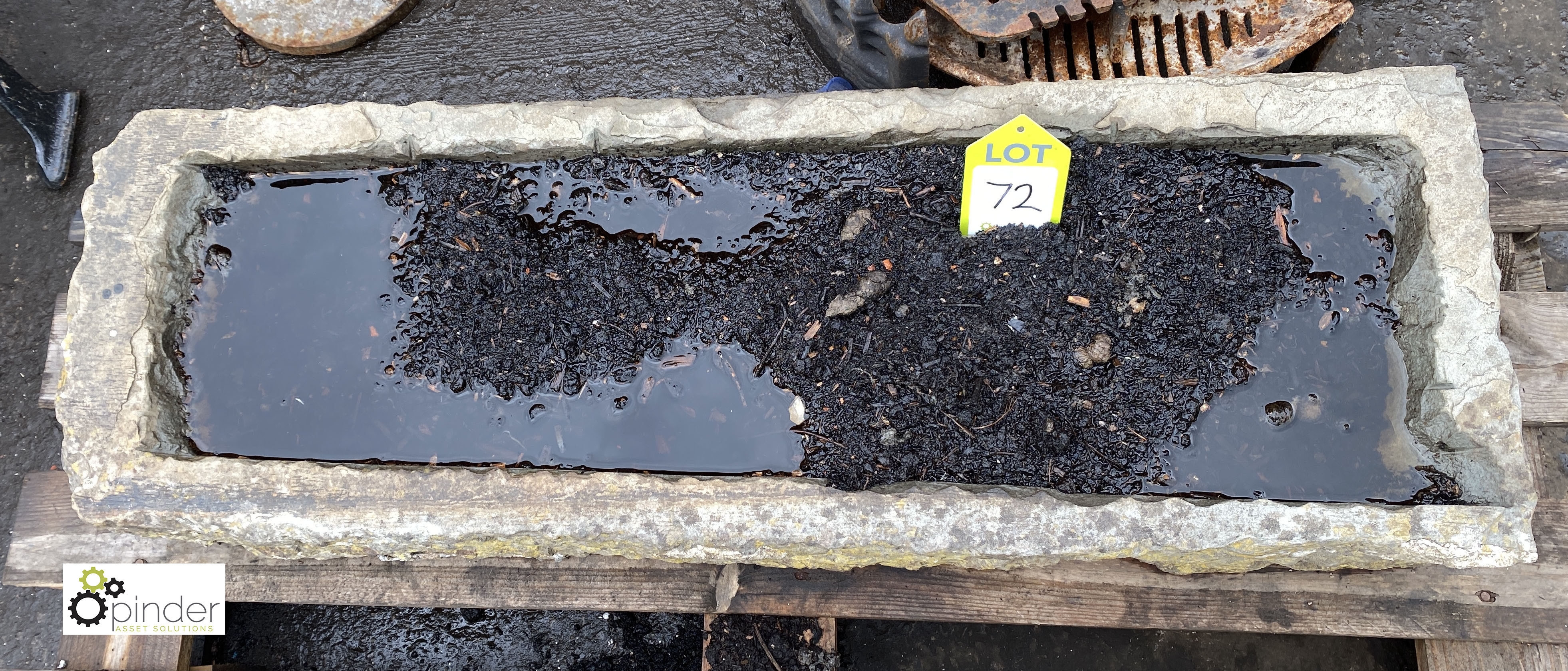 Stone Trough, 960mm x 330mm x 150mm deep (LOCATION: Sussex Street, Sheffield) - Image 3 of 3