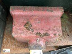 Cast iron Hopper, 220mm x 125mm x 125mm (LOCATION: Sussex Street, Sheffield)