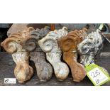 5 cast iron Decorative Feet (LOCATION: Sussex Street, Sheffield)