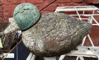 Reconstituted stone Figure of a mallard duck, approx. 250mm long (LOCATION: Sussex Street,