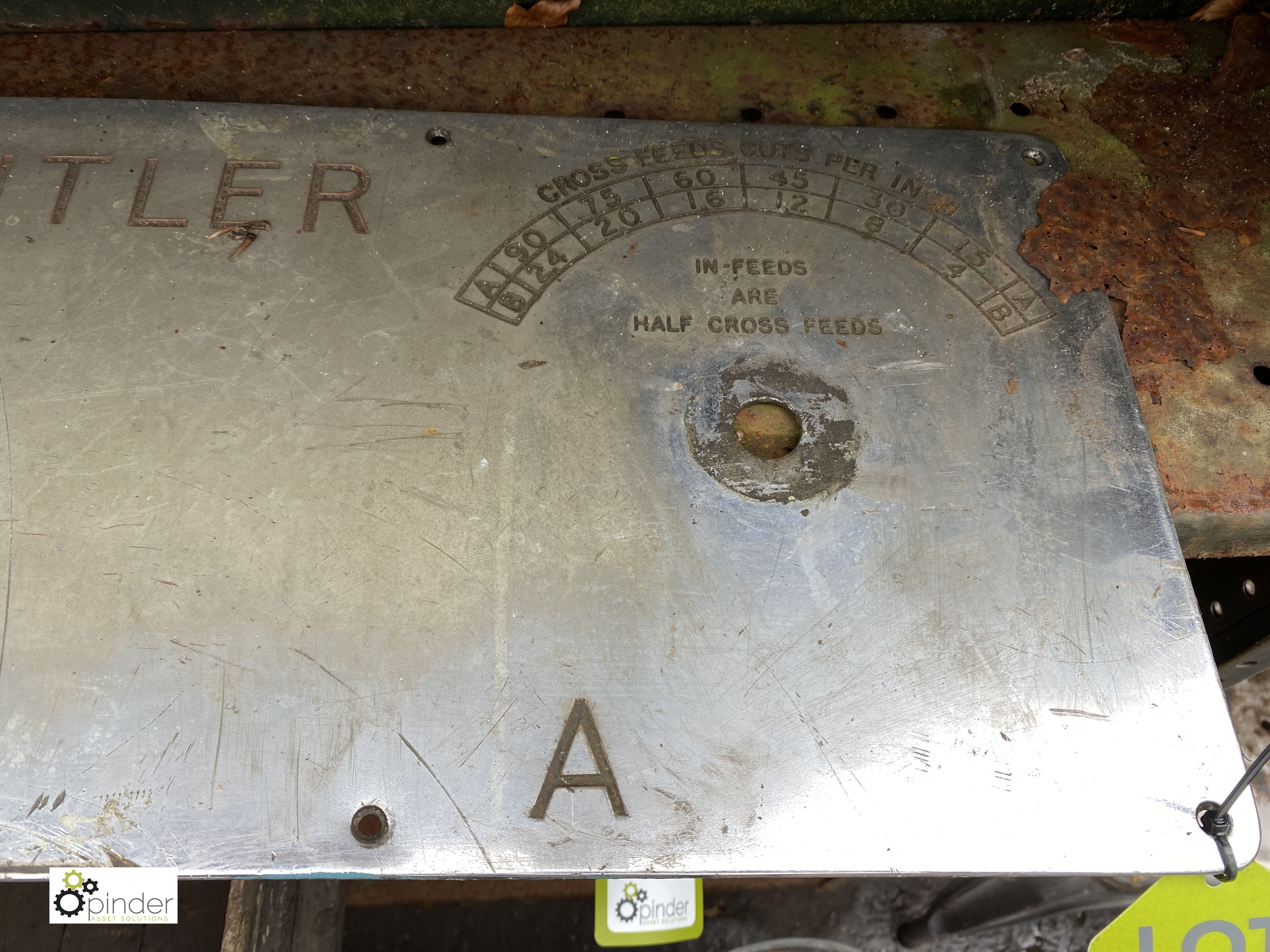 Butler Machine Plate (LOCATION: Sussex Street, Sheffield) - Image 2 of 3