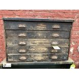 Wood 5-drawer Tool Chest, 760mm x 350mm x 510mm (LOCATION: Sussex Street, Sheffield)