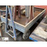 Steel towable Cart, 1860mm x 890mm (LOCATION: Sussex Street, Sheffield)
