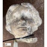 Reconstituted stone Ladies Head (LOCATION: Sussex Street, Sheffield)