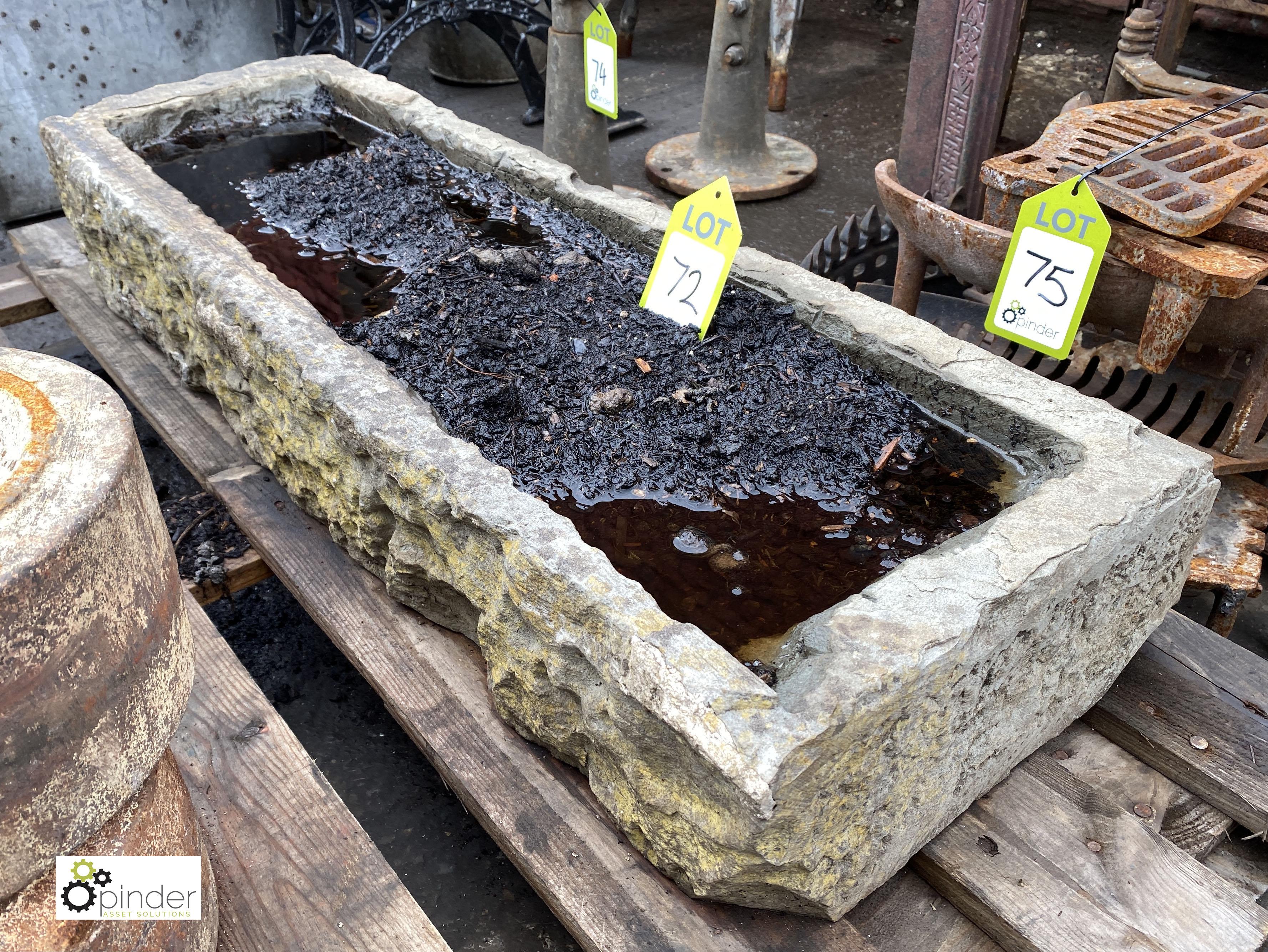 Stone Trough, 960mm x 330mm x 150mm deep (LOCATION: Sussex Street, Sheffield)