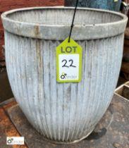 Galvanised Dolly Tub, 440mm diameter x 520mm tall (LOCATION: Sussex Street, Sheffield)