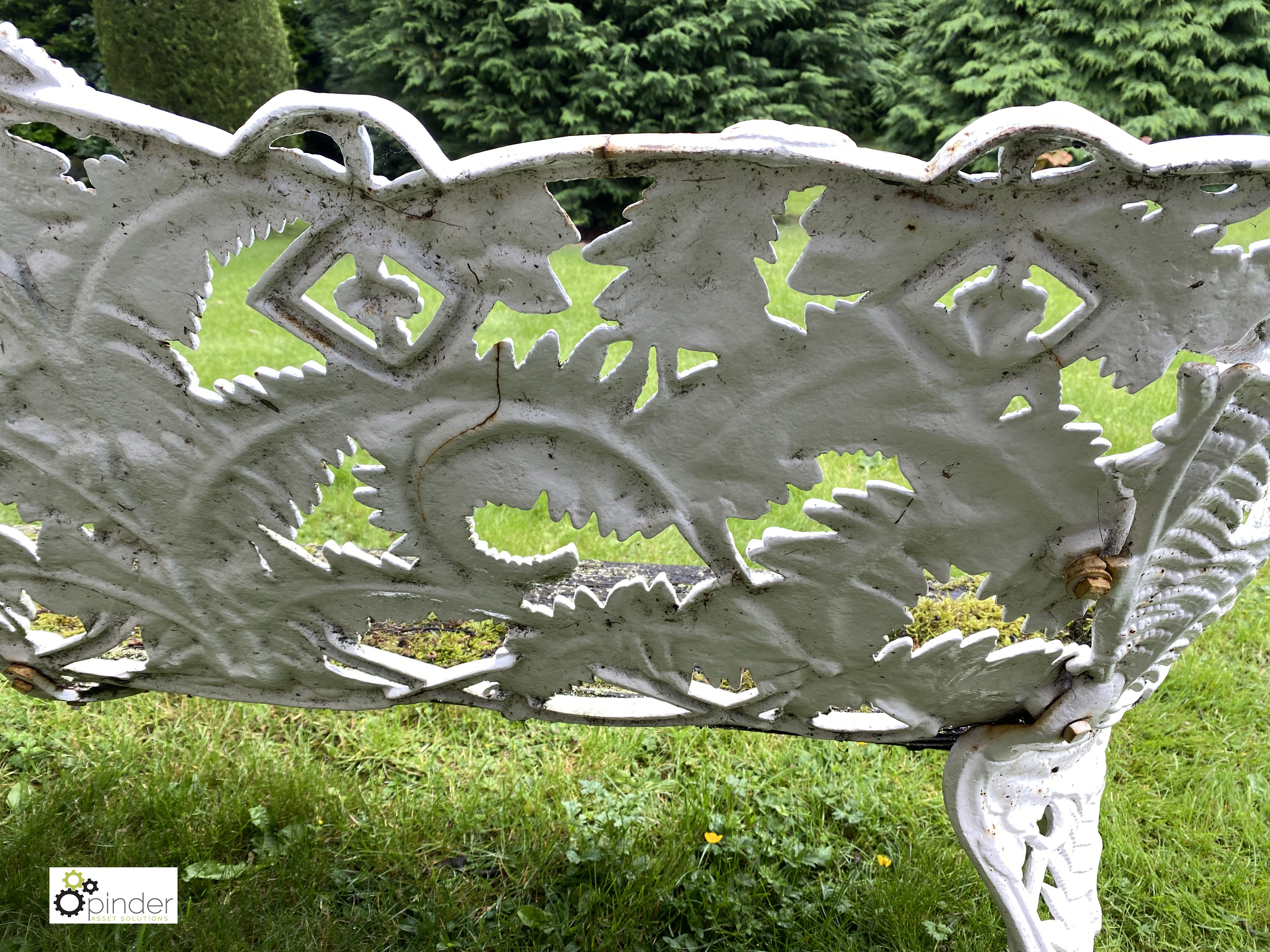 Decorative cast iron Garden Bench, with timber seat, 1890mm wide (LOCATION: Todwick, Sheffield) - Image 8 of 13