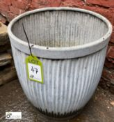 Galvanised Dolly Tub, 440mm diameter x 500mm tall (LOCATION: Sussex Street, Sheffield)