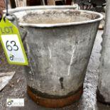 Galvanised Bucket (LOCATION: Sussex Street, Sheffield)