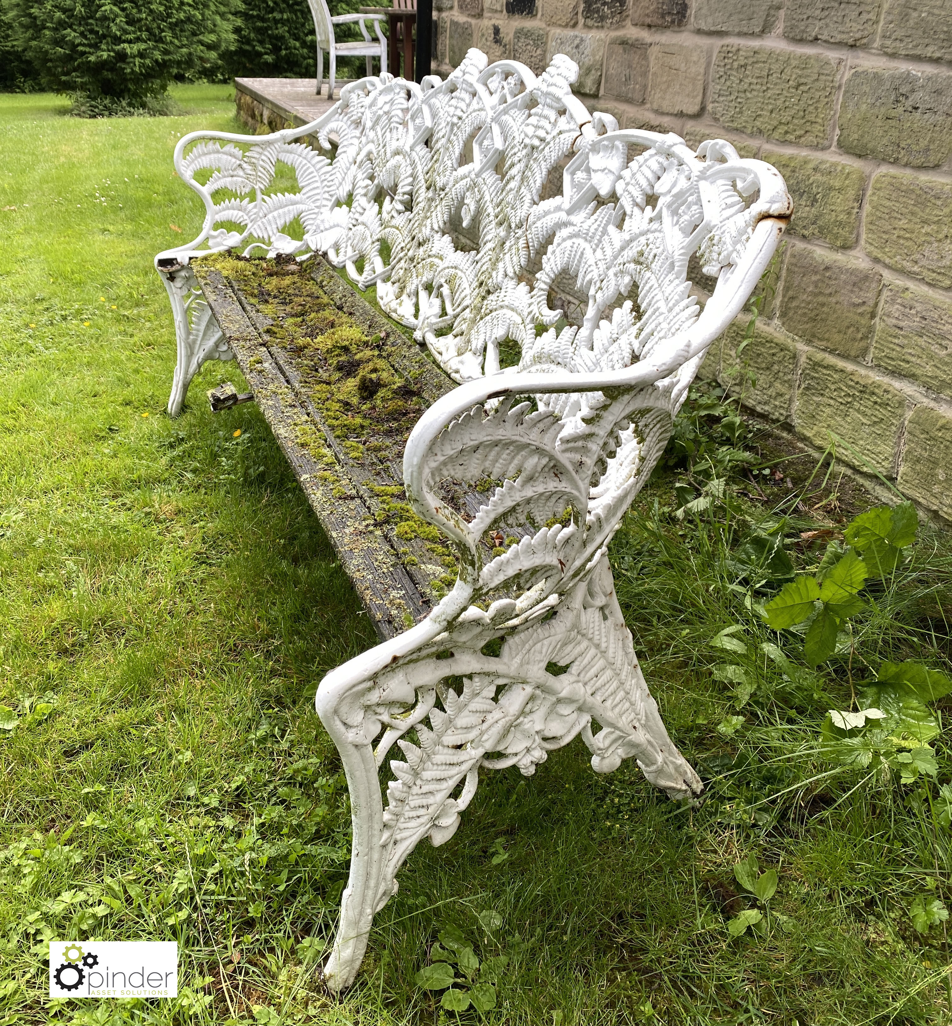 Decorative cast iron Garden Bench, with timber seat, 1890mm wide (LOCATION: Todwick, Sheffield) - Image 3 of 13