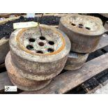 Set 4 steel Wheels, 245mm diameter x 110mm wide (LOCATION: Sussex Street, Sheffield)