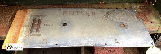 Butler Machine Plate (LOCATION: Sussex Street, Sheffield)