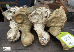 4 cast iron Decorative Feet (LOCATION: Sussex Street, Sheffield)