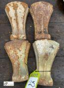 4 cast iron Feet (LOCATION: Sussex Street, Sheffield)