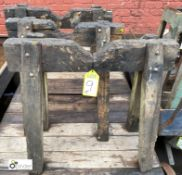 3 wood Saw Horses, 600/700mm wide (LOCATION: Sussex Street, Sheffield)