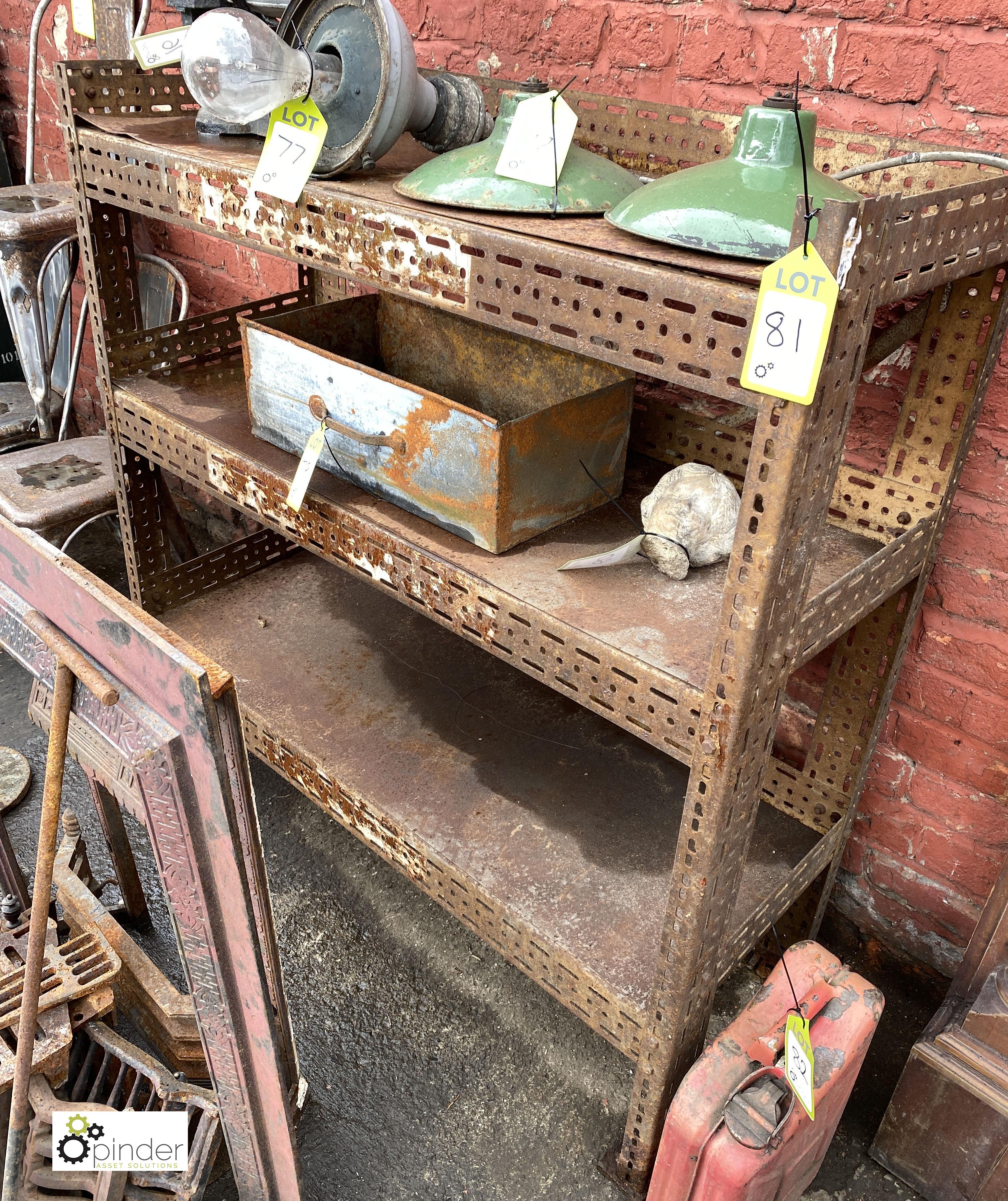 Steel adjustable 3-shelf Rack, 1240mm x 460mm x 1290mm tall (LOCATION: Sussex Street, Sheffield) - Image 2 of 2