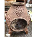 Decorative cast iron pot bellied Stove, 400mm tall x 250mm diameter (LOCATION: Sussex Street,