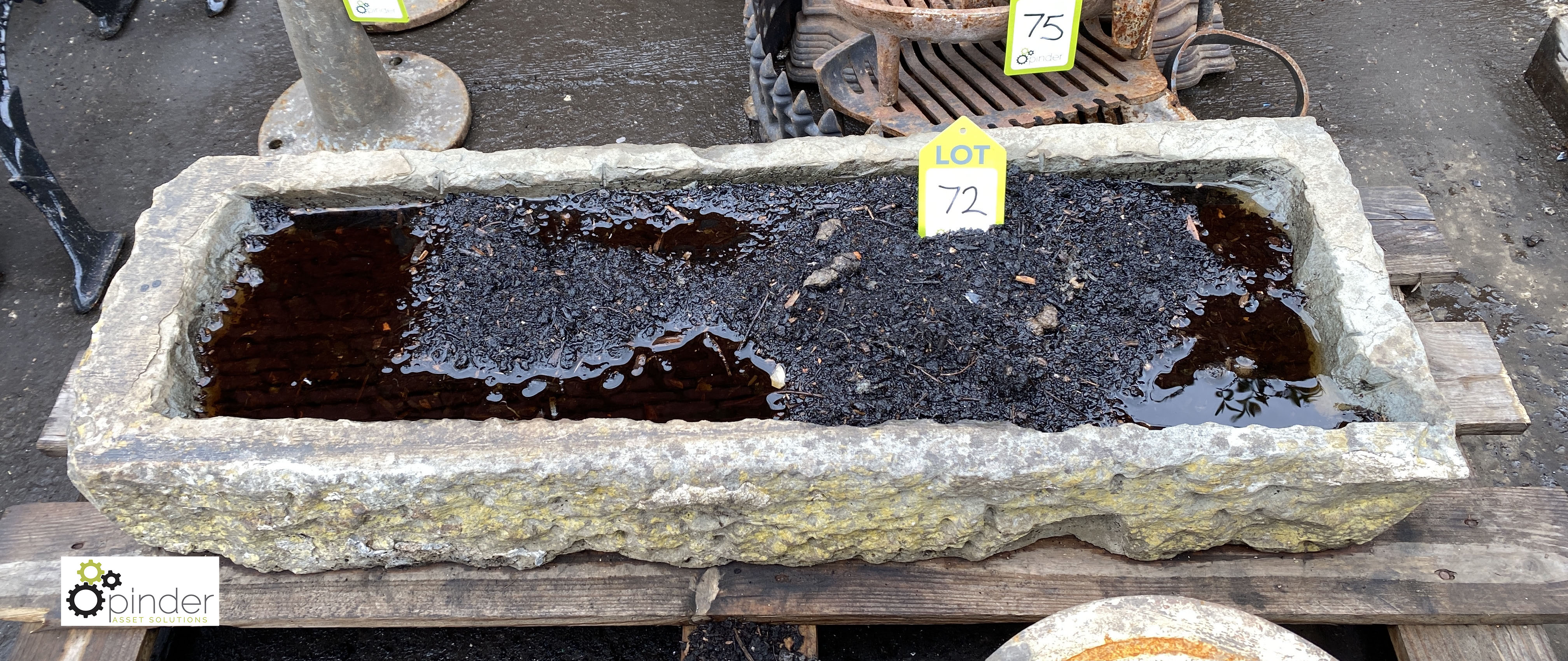 Stone Trough, 960mm x 330mm x 150mm deep (LOCATION: Sussex Street, Sheffield) - Image 2 of 3