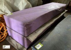 2 cushioned Mats, 1900mm x 500mm