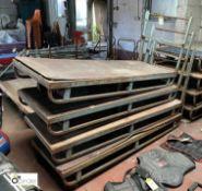 4 steel framed Mill Carts, 1840mm x 600mm