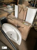 2 Wash Basins and 3 Pedestals, unused