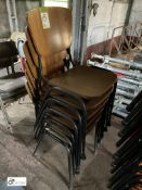 6 tubular framed timber Stacking Chairs