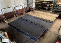 4 tubular framed Mill Carts, 1930mm x 680mm