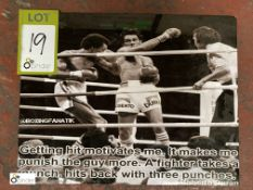 Boxing Photograph on aluminium plate, 355mm x 280mm