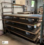 4 tubular framed Mill Carts, 1720mm x 770mm