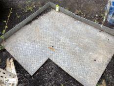 Checkerplate Body Floor, approx. 1400mm x 1160mm (LOCATION: Woodhead Road)