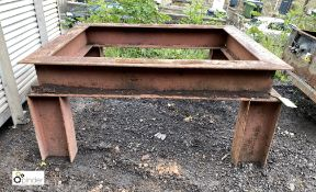 Heavy duty fabricated Works Stand, approx. 1550mm x 1235mm (LOCATION: Woodhead Road)