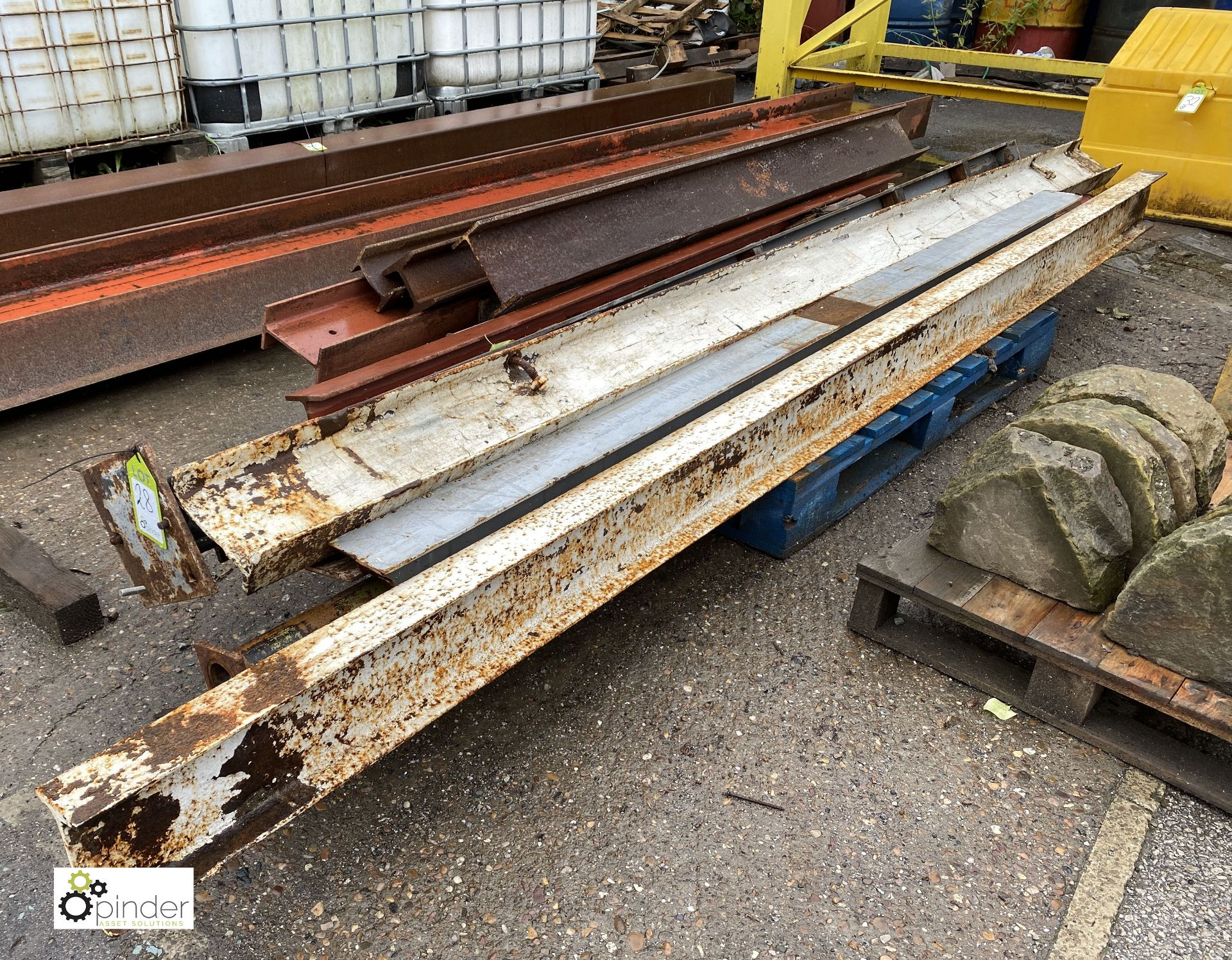 Quantity various steel Girders/Columns, to pallet (LOCATION: Station Lane) - Image 2 of 3