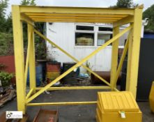 Fabricated IBC Stand, approx. 2730mm x 1200mm x 2480mm (LOCATION: Station Lane)