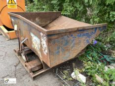 Langtons forklift mountable Tipping Skip, approx. 1550mm x 1600mm (LOCATION: Station Lane)