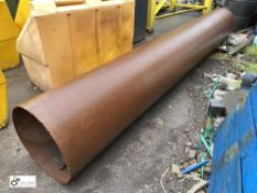 Steel Pipe, approx. 3380mm x 490mm diameter (LOCATION: Station Lane)