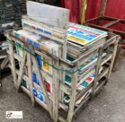 Large quantity Site Safety Signs, to stillage (LOCATION: Station Lane)