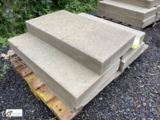 5 Yorkshire stone Quoin Slabs, approx. 800mm x 430mm x 105mm, to pallet (LOCATION: Woodhead Road)