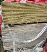 4 pallets various Insulation, comprising pallet 58 sheets, 2400mm x 600mm x 40mm; 2 pallets 156