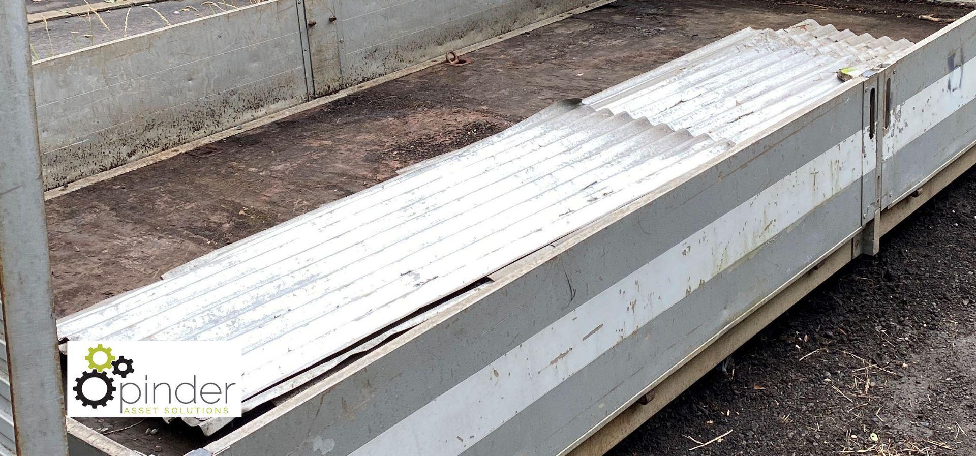 Quantity galvanised corrugated Sheeting (LOCATION: Woodhead Road)