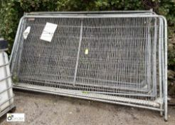 11 Herras Fence Panels, approx. 3450mm x 2000mm (LOCATION: Station Lane)